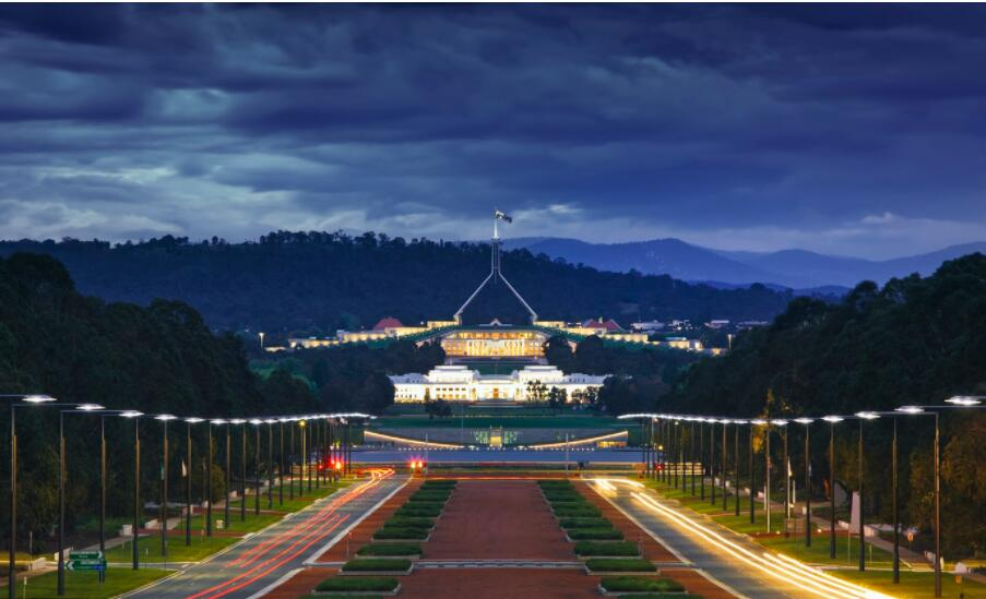Canberra, the country's capital